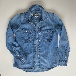 Madewell XXS Denim Boy Shirt Chambray